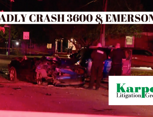 Deadly Crash Near 36th and Emerson – 5/25/20